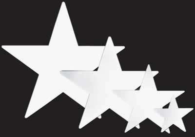 """Beistle Home Party Decoration Foil Star Cutout White -12""""- Pack Of 24"""