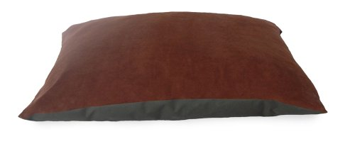 NAP Pet Bed Suede and Oxford Pet Pillow Bed, Espresso, 27-In