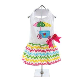 Image of DOGGIE DESIGN Ice Cream Cart Dress with Matching Leash