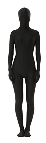 lttcbro Full Body Lycra Spandex Unisex Zentai Suit XL Black