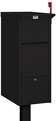 Locking Mailbox Apartment - Salsbury Industries 4375BLK Mail Package Drop, Black