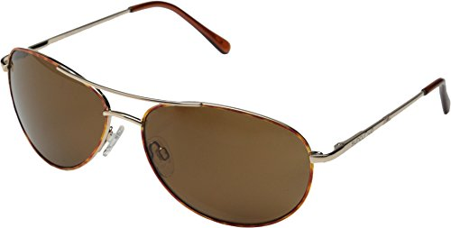 Suncloud Patrol Polarized Sunglass with Polycarbonate Lens, Tortoise Frame/Brown