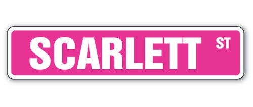 [SignJoker] SCARLETT Street Sign Great Gift Idea 100's of names to choose from! Wall Plaque Decoration