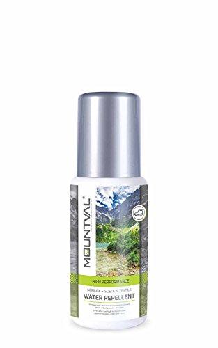 Mountval Water Repellent Nubuck & Suede & Textile, performance waterproofer for trekking shoes, with sponge applicator