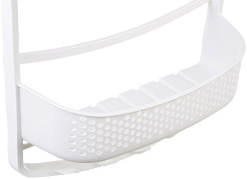 31lFvZIghLL Amazon Basics - Duschregal mit ausziehbaren Armen, Weiß