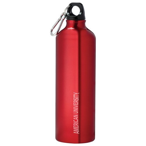 CollegeFanGear American University Venture Aluminum Red Bike Bottle 26oz 'Wordmark 3 Engraved' by CollegeFanGear