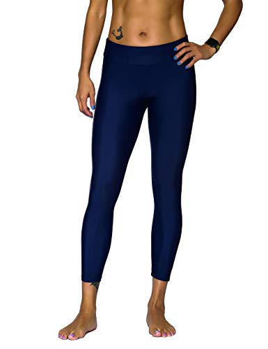 ninovino Women's Swim Tights UPF 50+ Stretch High Waist Sport Leggings Navy US18 ()