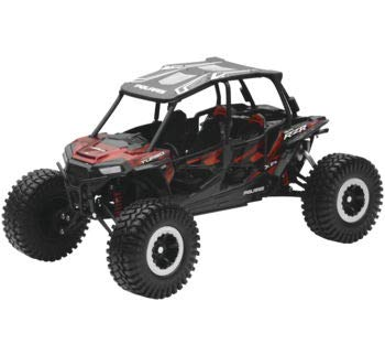 New Ray Toys 1:18 Scale UTV Die-Cast Replica Polaris RZR XP 4 Turbo Rock Crawler Titanium Red 57976B