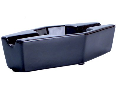 "9""x 4"" Sigara Black Ceramic Double Cigar Ashtray for for sale  Delivered anywhere in USA"