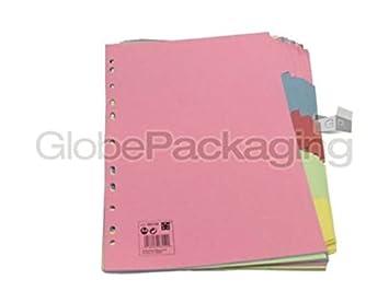 50 x Set de qualité UNI sujet fichier Séparateur 5: Amazon.es: Oficina y papelería