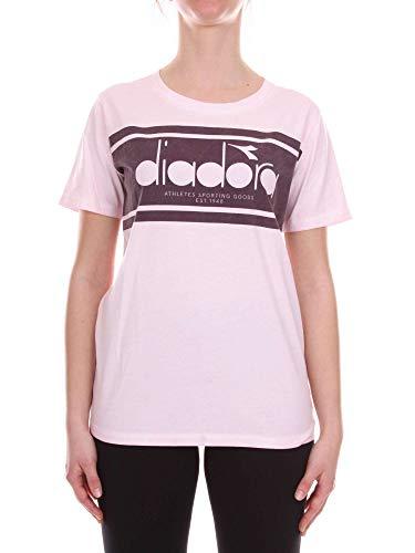 Rose 50217467350200 Femme Diadora shirt Heritage T Coton tExqPUw