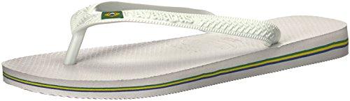 Havaianas Men's Brazil Flip Flop, Brazilian Flag Design,White,41/42 BR (9/10 M (Havaianas Brazil Black)