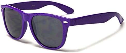 Spotted Frame Color Retro 80's Sunglasses