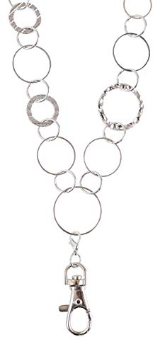 Anna Circle Link Lanyard Necklace (Silver)