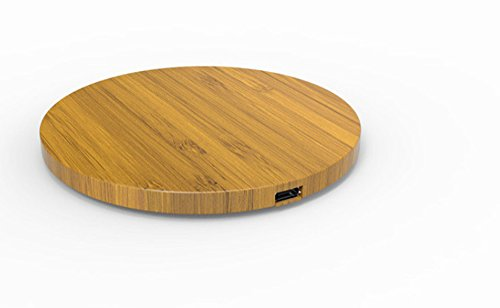 Price comparison product image Ultra thin round bamboo wireless charger for samsung iphone8 iphonex universal desktop wireless charge
