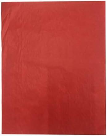 XHYRB 片側クラフト刺繍ファブリックデッサンカラフルカーボン紙トレースのコピーをペイントするの100pcs転送A4再利用可能な多機能 紙詰まり (Color : Red)