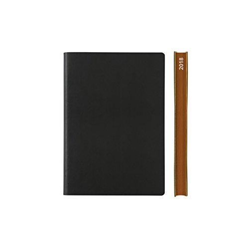 2018 Daily Planner Calendar by Daycraft Signature - A6 Size Black (D631K) - 5.88x4.13