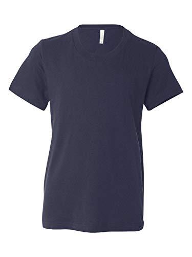 Bella 3001Y Youth Jersey Short Sleeve Tee - Navy, YL