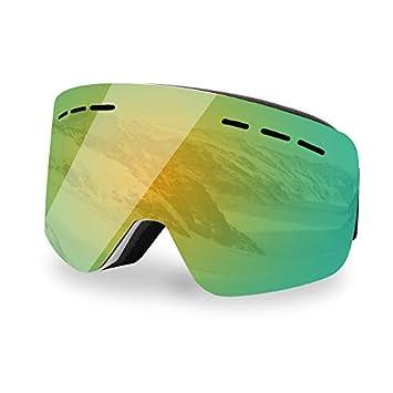 Hootracker Gafas de Esquí Polarizadas Ski Gafas Goggle Lente Doble Snowboard de Sol Professional Anti -