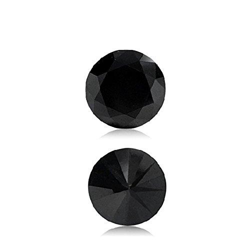 2.31 Cts 7.56×7.65×5.94 mm AA Round Brilliant ( 1 pc ) Loose Black Diamond {DIAMOND APPRAISAL INCLUDED}