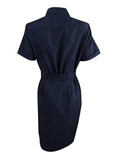 Calvin Klein De Petite Des Femmes Ceinturée Utilitaire Shirtdress (10p, Bleu)