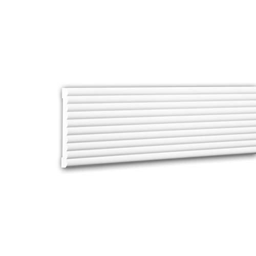 Panel Moulding 151374 Profhome Dado Rail Decorative Moulding Frieze Moulding Contemporary Design White 2 m ()