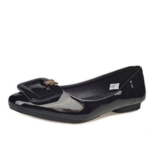 Las señoras de la moda coreana y zapatos puntiagudos/Planos/simple zapatos planos de Inglaterra B