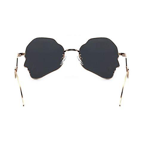 D Yiwu Sunglasses Lunettes Personality couleur Femme Sun C Mirror 0tq07wr