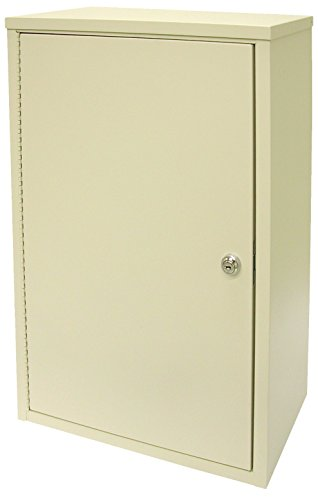 """Omnimed 182175 Economy Large Double Door Narcotic Cabinet with 2 shelves, 8""""/Deep"""