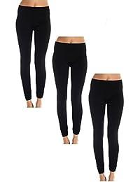Women's Seamless 3 Pack Fleece Lined Leggings