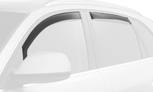 WeatherTech Custom Fit Rear Side Window Deflectors for Suzuki Forenza Dark Smoke