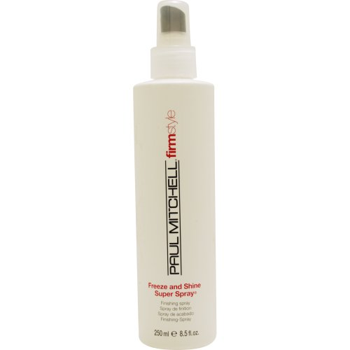 8.5 Ounce Spray Gel (Paul Mitchell Freeze and Shine Super Spray Firm Hold Finishing Spray for Unisex, 8.5 Ounce)