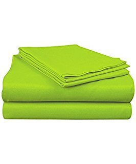 Full Micro Fiber Sheet Set - Soft and Comfy - By Crescent Bedding Lime Green (Lime Green Sheets)