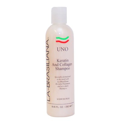 La-Brasiliana Uno Keratin And Collagen Shampoo 8.45 oz