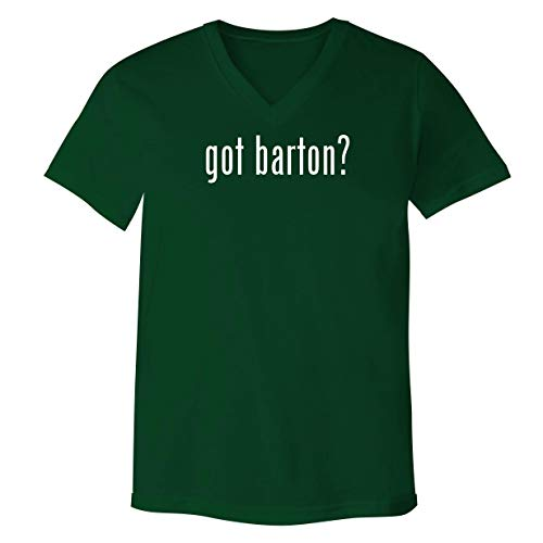 got Barton? - Adult Bella+Canvas 3005 Unisex V-Neck T-Shirt, Green, Small (Reed And Barton Beau Flatware)