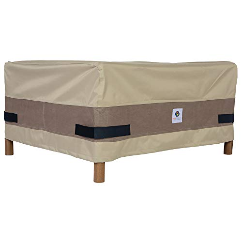 Duck Covers Elegant Square Patio Ottoman or Side Table Cover, 32-Inch ()