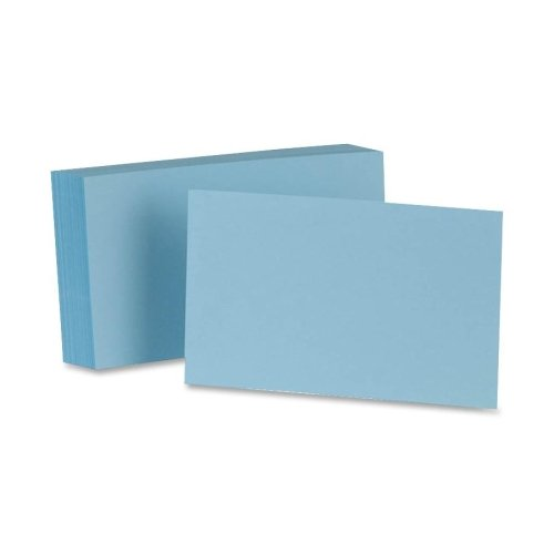 Wholesale CASE of 25 - Esselte Colored Blank Index Cards-Index Card, Blank, 5''x8'', 100/PK, Blue by ESS