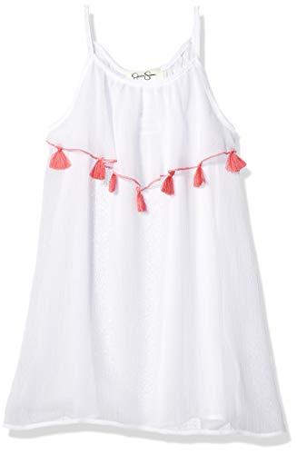 Jessica Simpson Little Girls' Swimsuit Coverup, White Hearts,