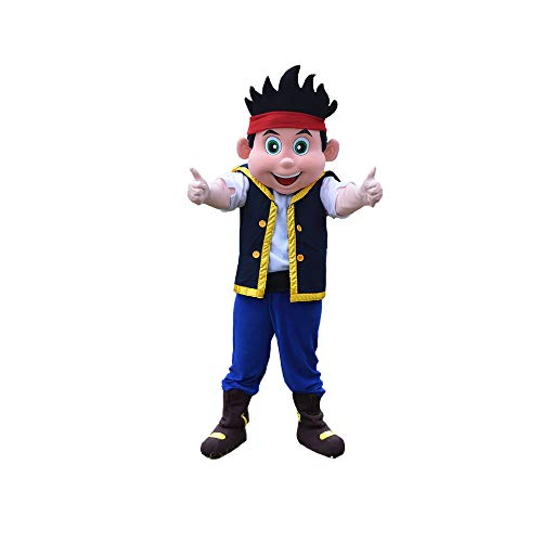 Jake and The Nerver Land Pirates Mascot Costume Character Party Birthday Halloween