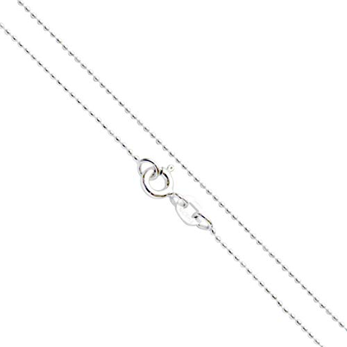 (Sterling Silver 0.7mm Bead Chain, 16 Inches)