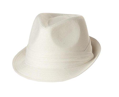 California Costumes Fedora Hat,White,One