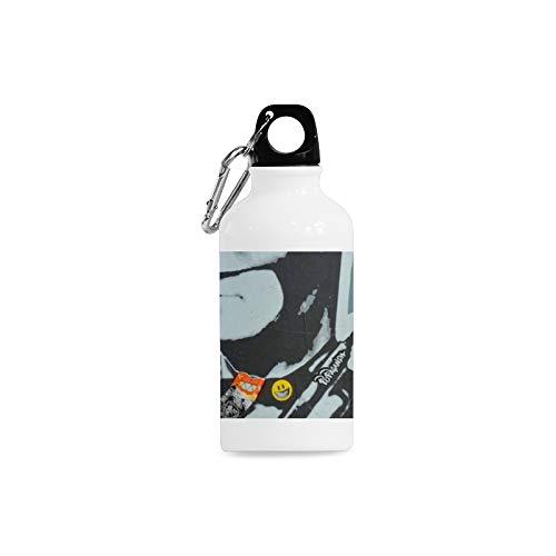 YPink 13.5 Oz Stainless Steel Water Bottle for Teens Character Graffiti Art Block Comic Wide Mouth Lightweight Sports Aluminum Water Bottle for Girls Basketball Baseball