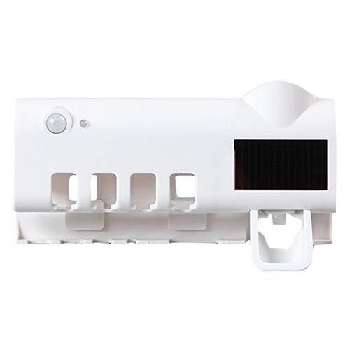 XINGXINGFAN UV-Zahnb/ürstenhalter wandmontierter Zahnpastahalter f/ür zu Hause Solar-UV-Zahnb/ürsten-Desinfektionsmittelhalter und automatischer Zahnpastaspender 4 Steckpl/ätze