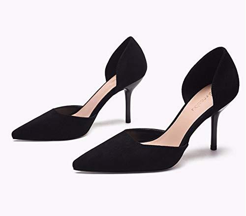 Autunno Moda A black Scarpe In 8Cm Scarpe GTVERNH Solo Scarpe Tacchi donna E Spillo da qxff0tF