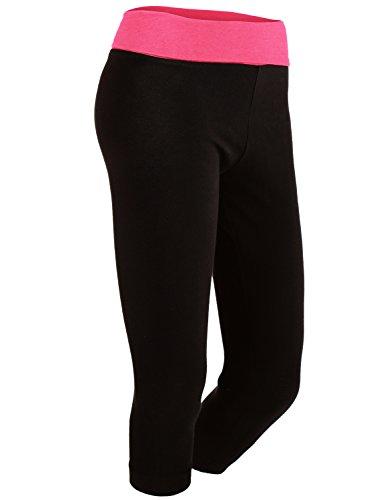 Work Out Contrast Capri Knee Length Yoga Pants