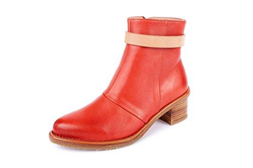 Neosens Damen Bouvier Stiefeletten Stiefel Rot Gr. 37