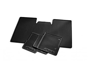 2010-2012 Ford F-150 All-weather Vinyl Floor Mats - Black, 3-pc., Supercrew, Dual Retention, W/o Sub Woofer