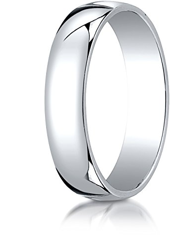 (Benchmark 14K White Gold 5mm Low Dome Light Wedding Band Ring , Size 9.5)