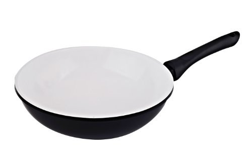 Vinaroz Die Cast Aluminum wok with Ceramic Coating 30-Cm, Black by Vinaroz ()