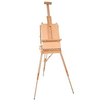 TUHUA Wooden Easel Stand for Art - Large Easels Adults Children Artist Painting Craft Adjustable Display Exhibition for Drawing